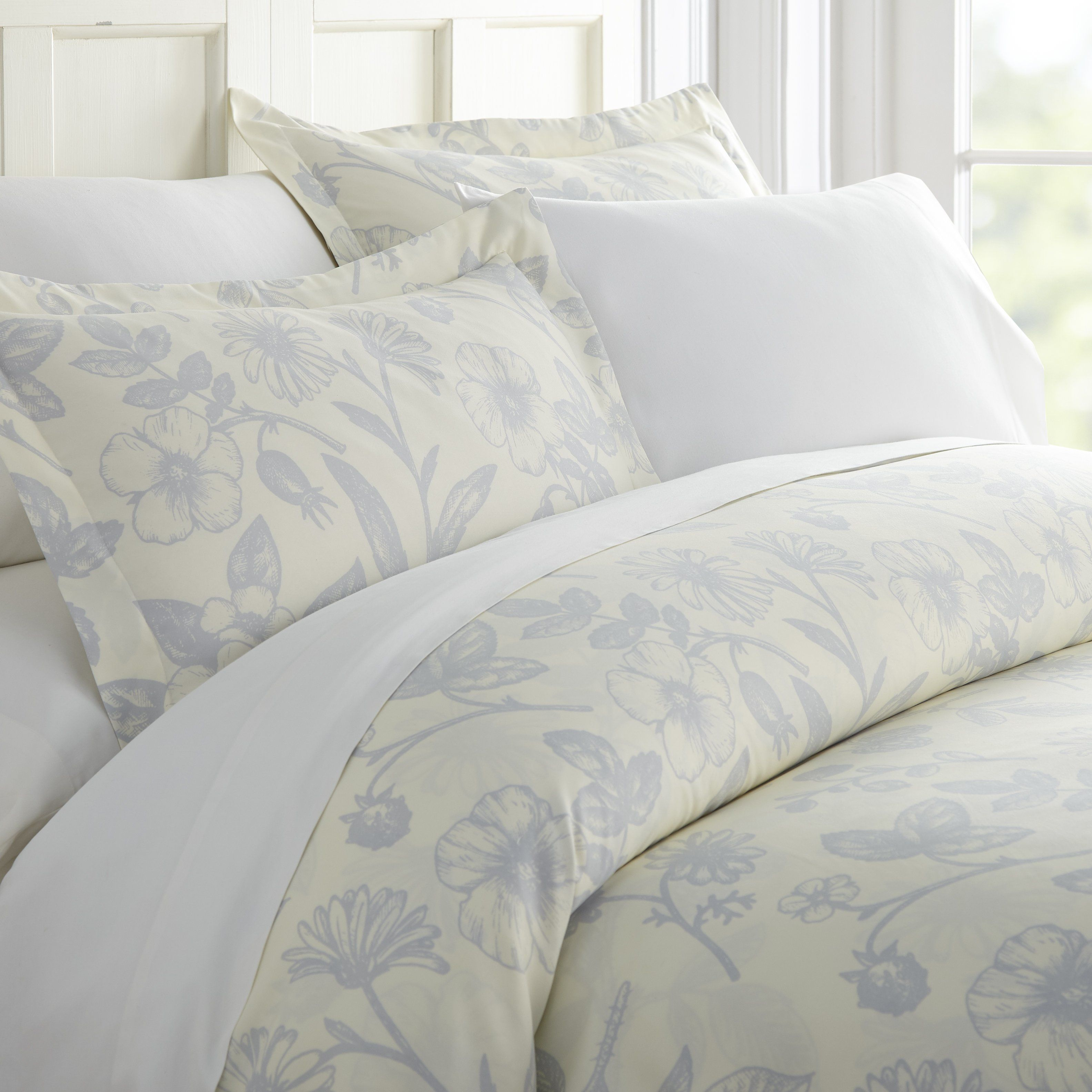 Home Collection Premium Ultra Soft Garden Pattern 3 Piece Duvet Cover Set