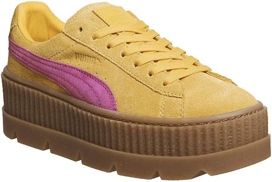 check out aeee8 bf915 Puma Fenty Cleated Creeper Lemon Carmine Rose - 4 UK: Amazon ...