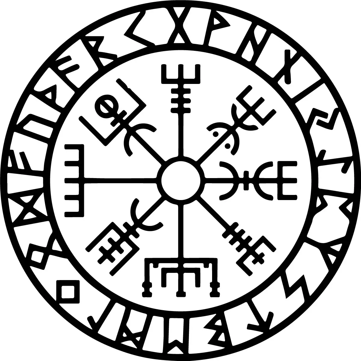 Vegvisir, The Symbol of Guidance and Protection & Its Meaning - The Viking Compass/Runic Compass - Mythologian