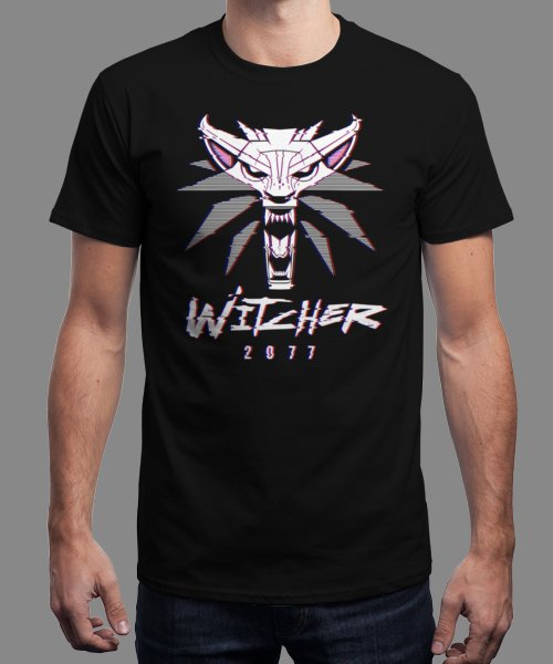 """""""White Wolf 2077"""" is today's £9/€11/$12 tee for 24 hours only on Pin this… 