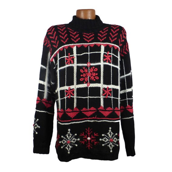 Ugly Christmas Sweater Vintage 1980s Holiday Tacky Xmas Party