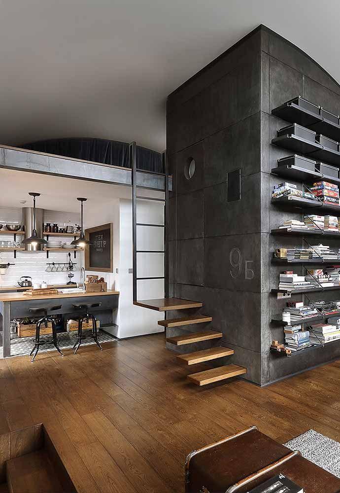 Nessa casa de estilo moderno e com visual despojado, o