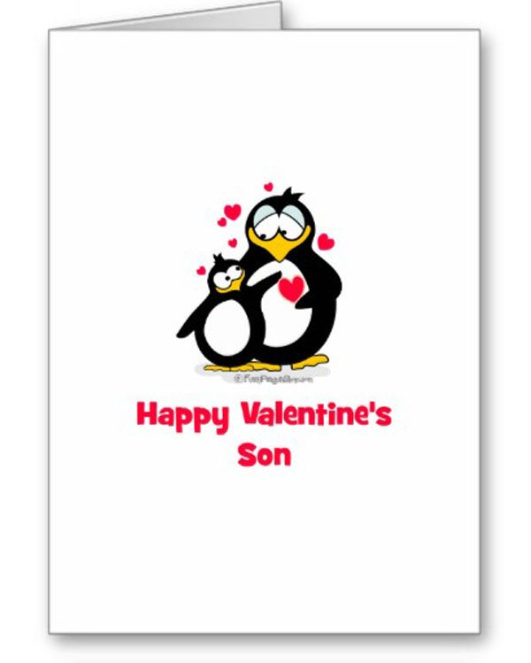 Happy Valentine Son Greeting Cards Son And Doughter – Valentine Cards for Son