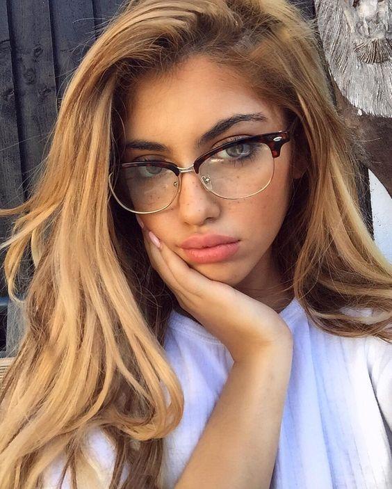 90671e50be  6.74 - Clubmaster Half Rim Women Eyeglasses Wayf Clear Lens Shadz Metal  Bottom  ebay  Fashion