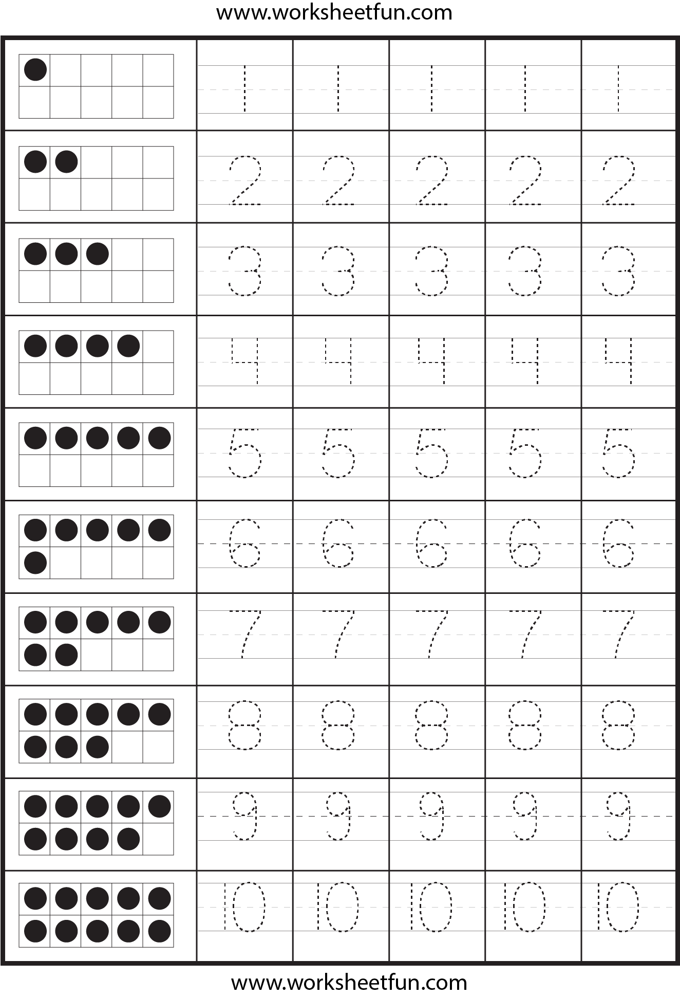 number tracing worksheets early mathematics pinterest