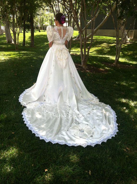 Vintage 1993 Wedding Gown   Brautkleider