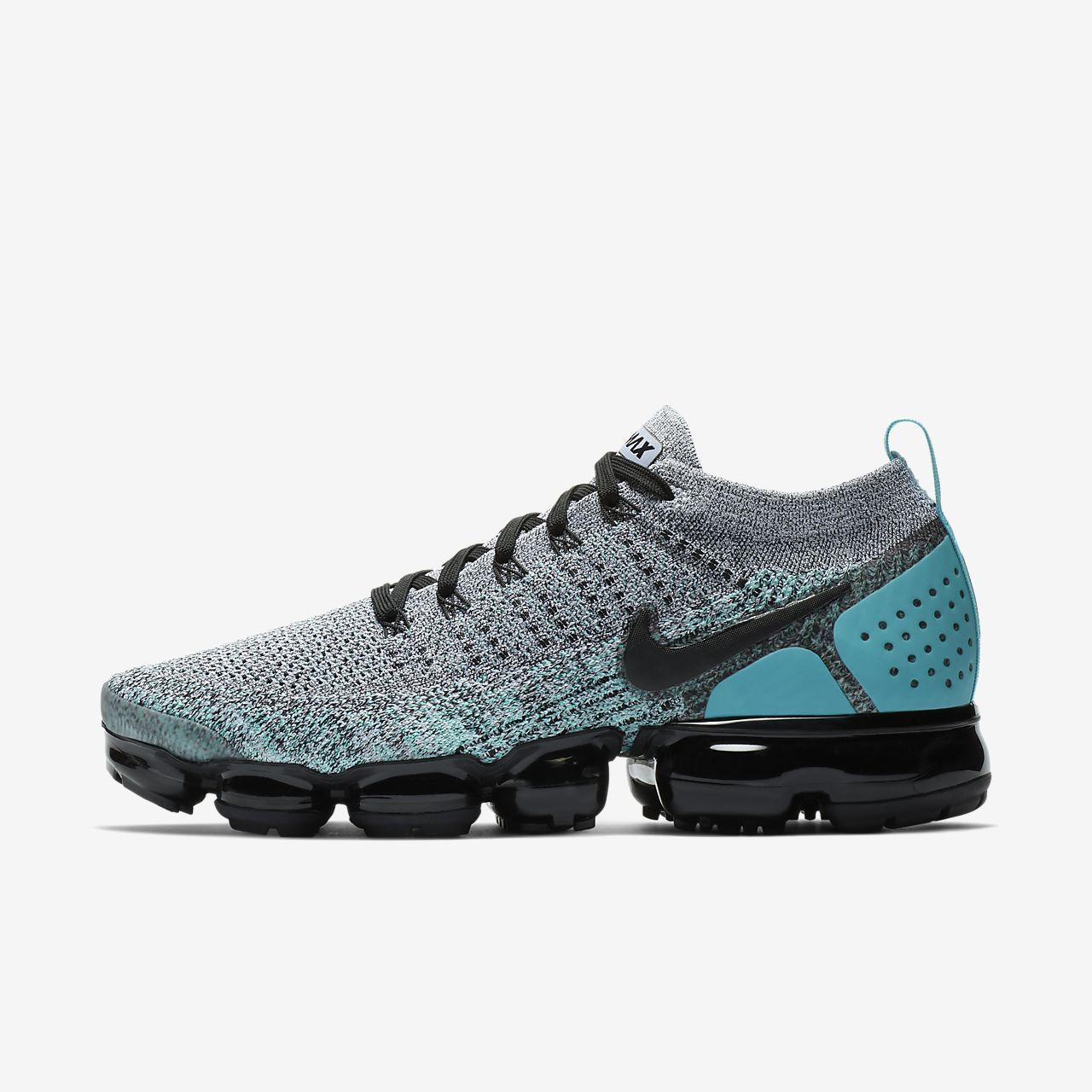 best service 96755 4ad88 Nike Air VaporMax Flyknit 2 Mens Running Shoe White Clear Jade Dusty  Cactus Black Style  942842-104