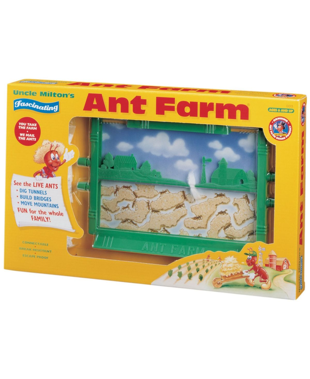 Uncle Milton Ant Farm Live Ant Habitat Vintage