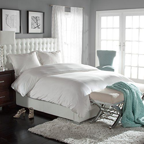 Clearance Sale Silky Luxury Tencel Lyocell Duvet Set White K 108 X 98 Duvet Cover Master Bedroom Duvet Sets Duvet Cover Sets