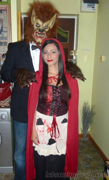 32 diy ideas for couples halloween costumes couple halloween 32 diy ideas for couples halloween costumes fairy tales come true for this red riding hood and the wolf costumes solutioingenieria Images