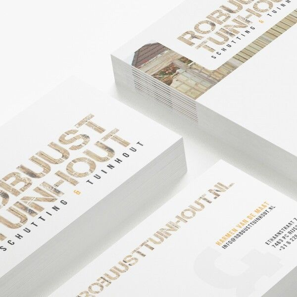 Branding - business cards for Robuust Tuinhout by iDISEÑO