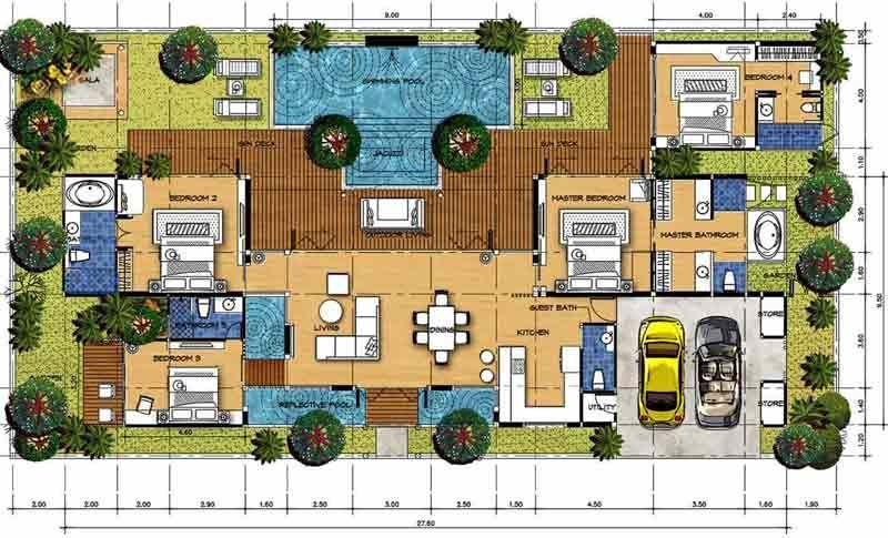 Bali Style Villa House Plans House Design Plans
