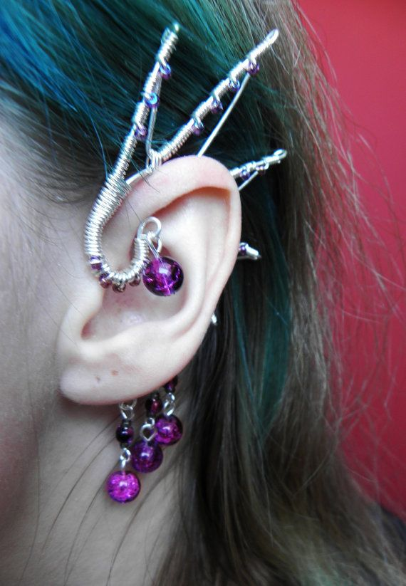Dragon Wing Ear Cuff by ShiroNekoJewelry on Etsy