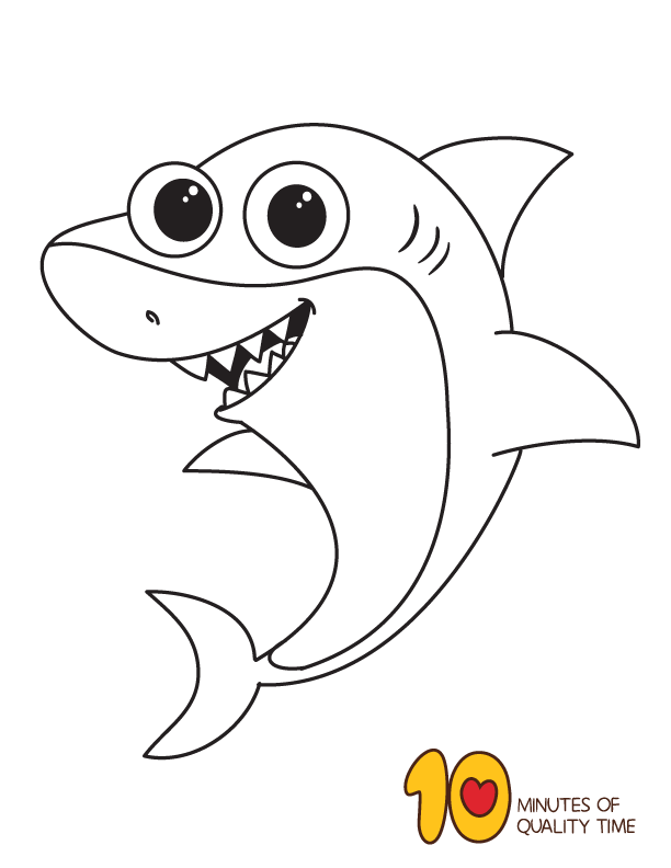 Shark Coloring Page Bunny Coloring Pages Shark Coloring Pages Coloring Pages