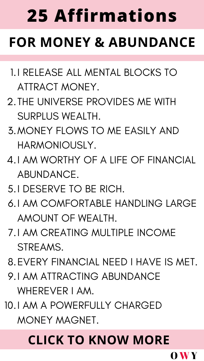 How to practice affirmations for financial abundance