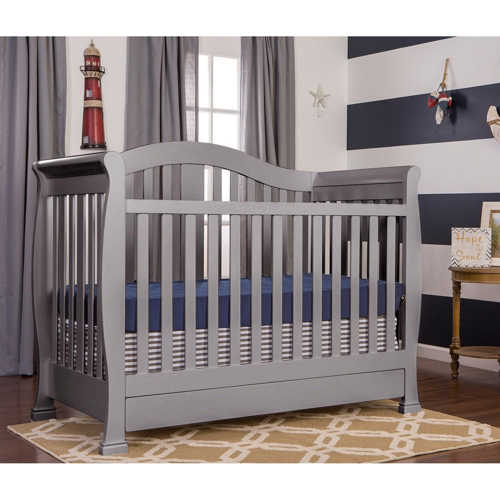 Dream On Me Addison 5in1 Convertible Crib With Storage