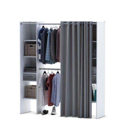 Kit Dressing Blanc Dressing Star H203 X L114 180 X P50 Cm Rangement Dressing Meuble Rangement Dressing Blanc