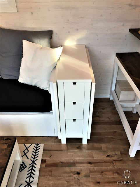 Tiny House End Table That Converts Into Large Dining Part 1
