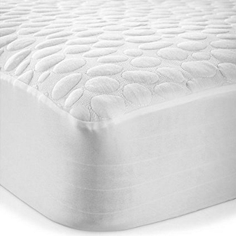 Pebbletex Cotton Twin Mattress Protector In White Mattress Protector Mattress