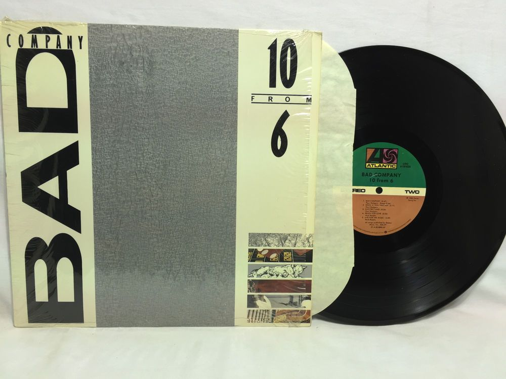Bad Company 10 From 6 Vinyl Record Album In Shrink Ex Conditon Vinyl Records Record Album Vinyl Record Album