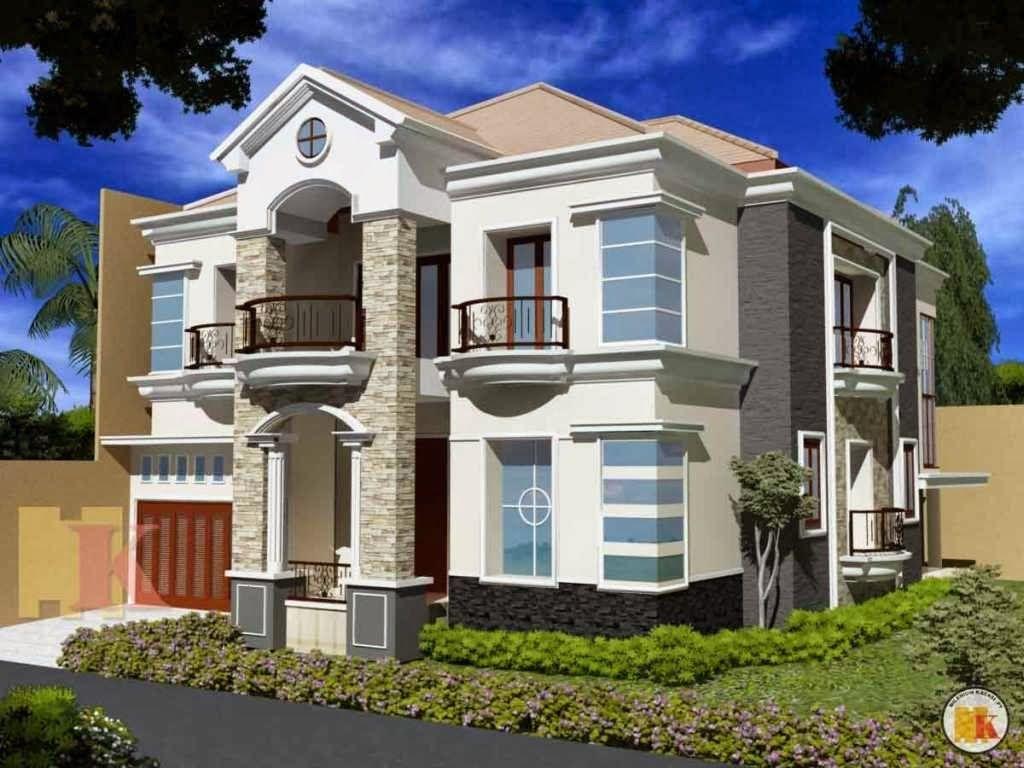 Desain Rumah Klasik Modern 2 Lantai Home Design 3D Pinterest