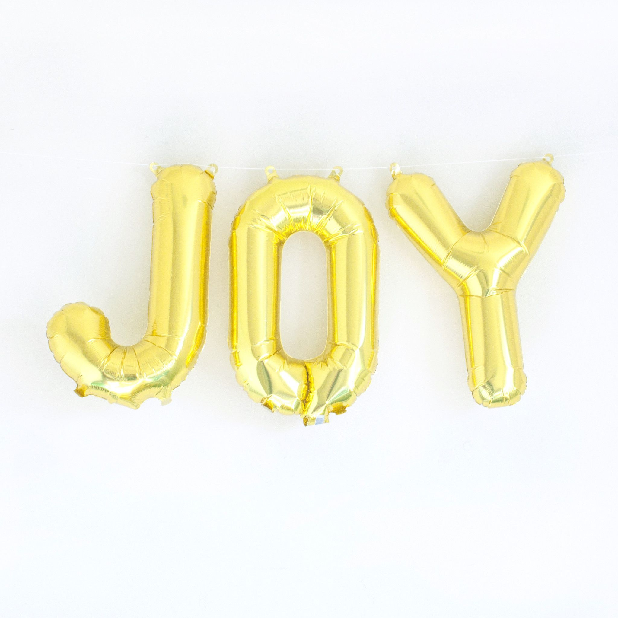 Add Our Joy Gold Or Silver Mylar Letter Balloons To