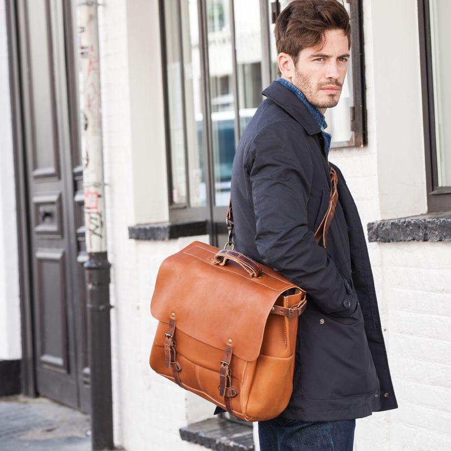 bleu de chauffe men leather 48h business bag postman bag irving sac cuir homme made in. Black Bedroom Furniture Sets. Home Design Ideas