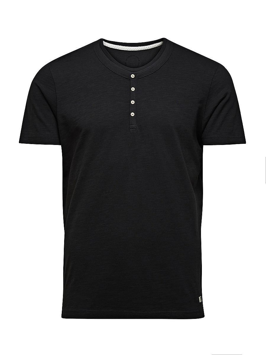 ORIGINALS by JACK & JONES - T-Shirt von ORIGINALS - Regular fit - Rundhals - Kleiner Markenlogo-Aufnäher am Abschluss - Lageneffekt 100% Baumwolle...