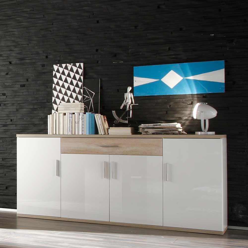 Großartig Schrank 180 Cm Breit Dekoration Von Hochglanz Sideboard In Weiß Jetzt Bestellen Unter: