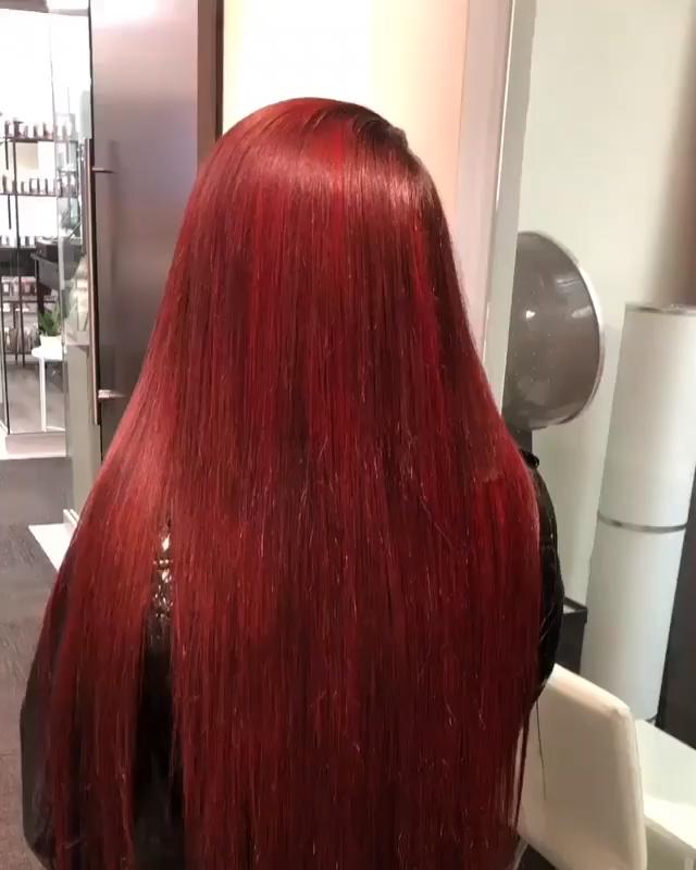 Photo of cabello lacio increíblemente rojo