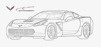 Corvette Coloring Page | Corvette Kids | Digital stamps, Digital, Stamp