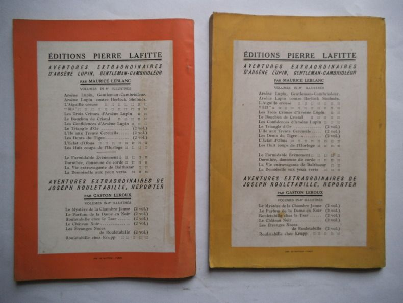 Leblanc Maurice Les Dents Du Tigre Livre Rare Book