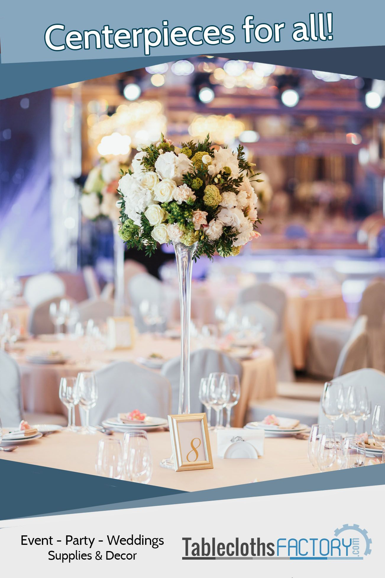 Tableclothsfactory Has Gorgeous Centerpieces For All Occasions Backdrop Decorations Coral Wedding Decorations Wholesale Flowers Wedding