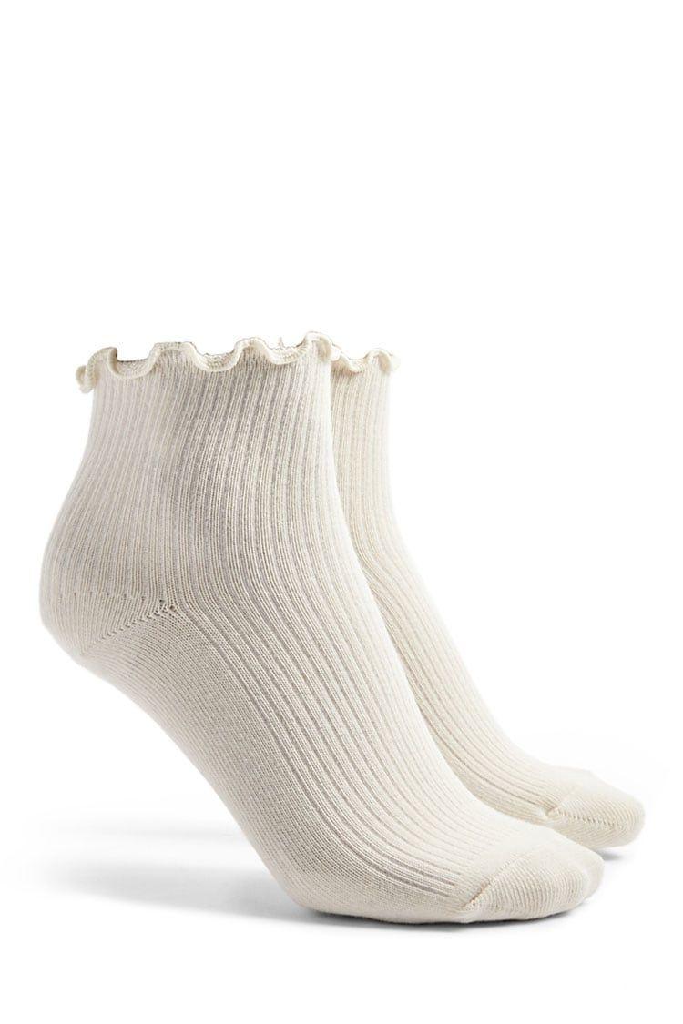 Lettuce-Edge Crew Socks | wish list | Crew socks, Forever 21