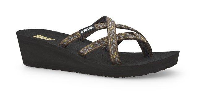 537a700ec853 Teva Women s Mush Mandalyn Wedge Ola 2 WHENEVER BROWN Sandals Flip Flops