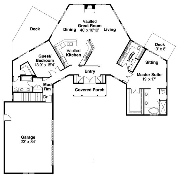 Superior V Shaped House Plans