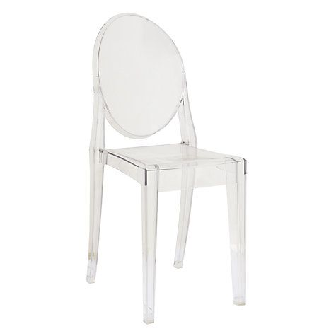 Victoria Ghost Chair Red Leather Chairs Philippe Starck For Kartell Crystal Buy Online At Johnlewis Com