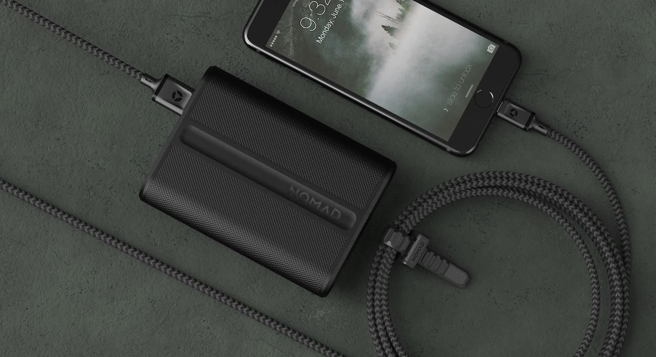 PowerPack Trackable Power Bank Powerbank, Charging cable