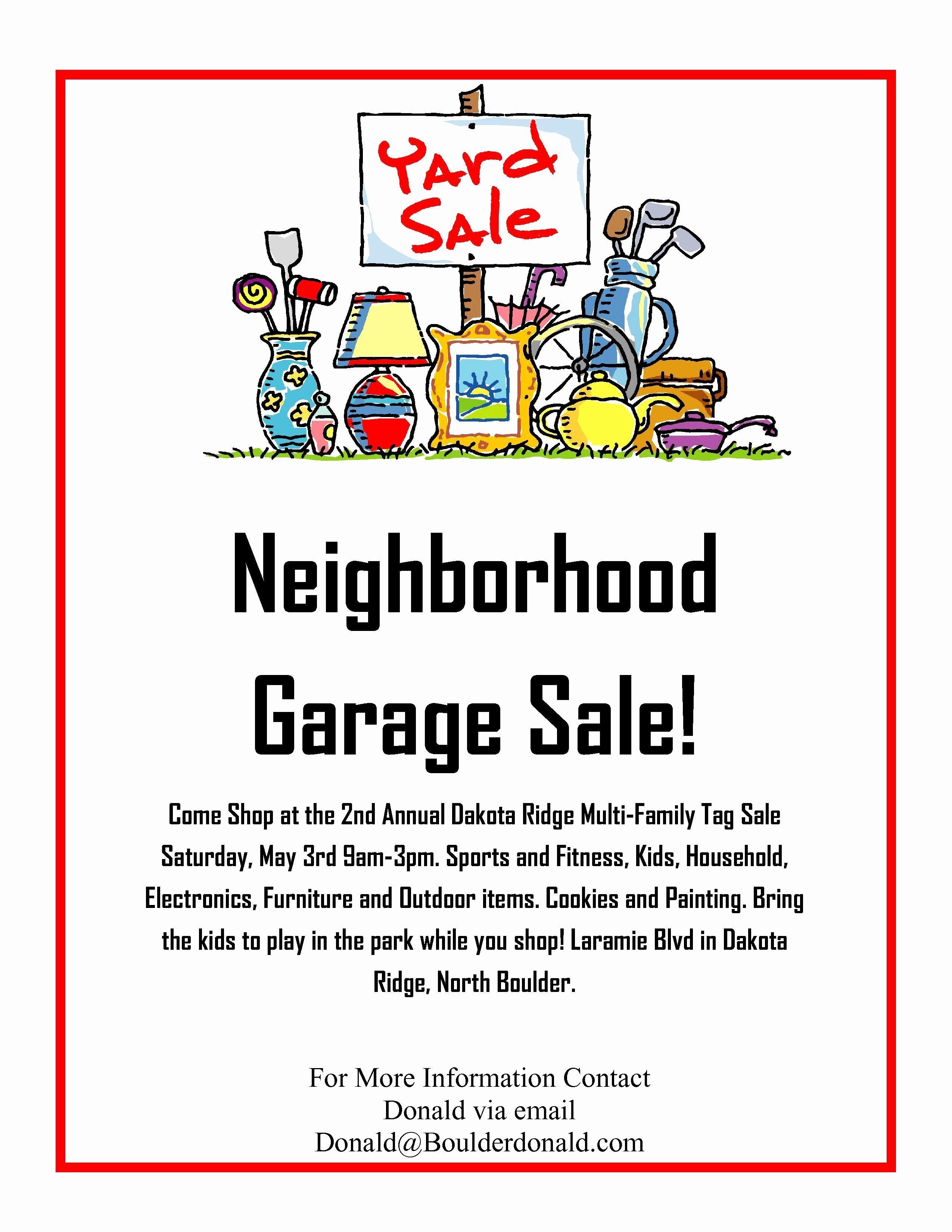 Church Rummage Sale Flyer Template Luxury Yard Sale Flyer Fresh Church Yard Sale Flyer Keninamas Spea Community Garage Sale Sale Flyer Neighborhood Garage Sale