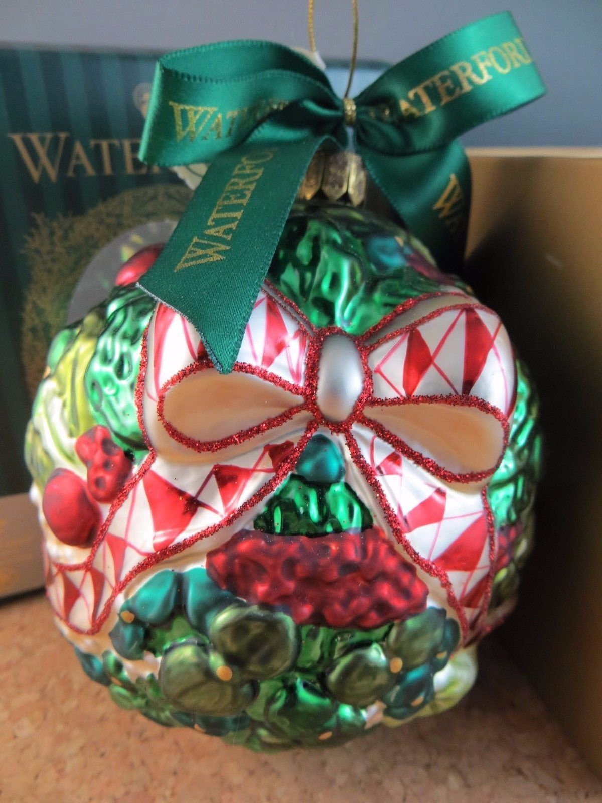 Waterford Holiday Heirloom Glass Christmas Ornament Kissing Ball 4 ...