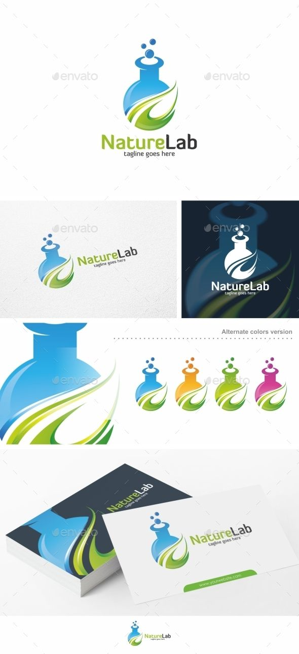 nature lab logo template pinterest ai illustrator logo