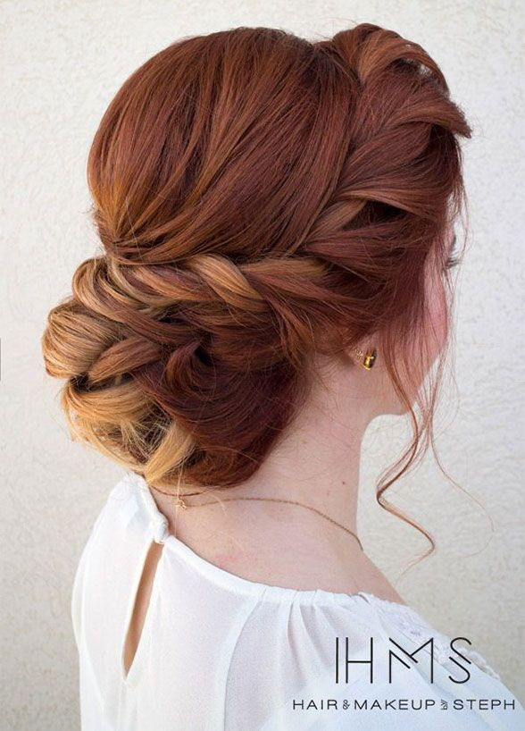 Fresh takes on this classic wedding hairstyle are pinned, twisted, tucked and…