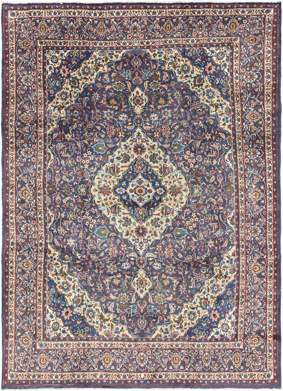 Navy Blue 9 6 X 12 10 Mashad Persian Rug Persian Rugs