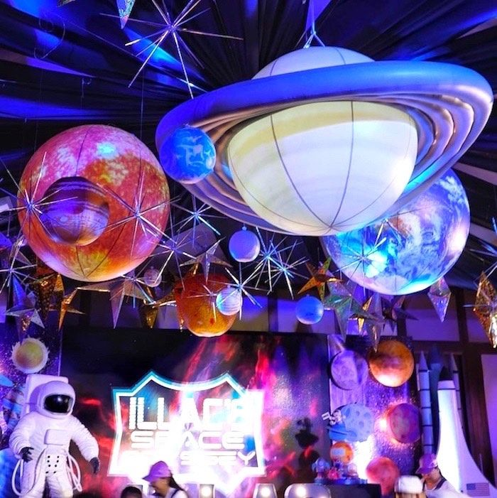 Outer Space Birthday Party #outerspaceparty