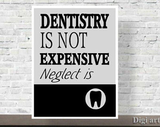 Quote, Dental Office Decor, Art Print, Gift for Dentist, Dental ...