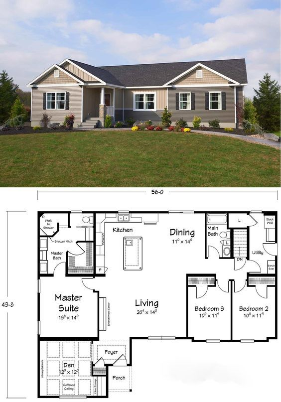 Awesome Floor Plan The Master Bathroom Has It All House Layouts Floor Plans New House Plans