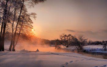 December landscape HD widescreen wallpaper