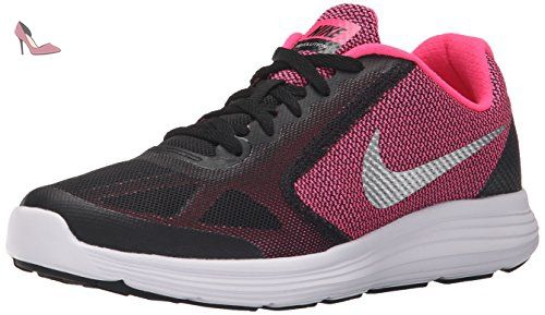 Nike Revolution 3 (GS), Chaussures Multisport Outdoor Garçon, Rose (Black/