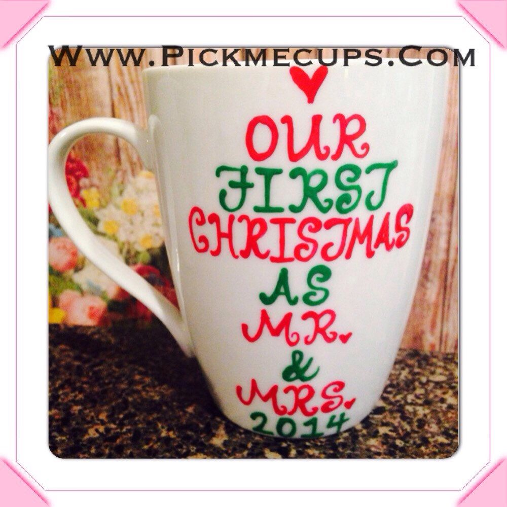 Our First Christmas As Mr And Mrs Wedding Gft First Year Of