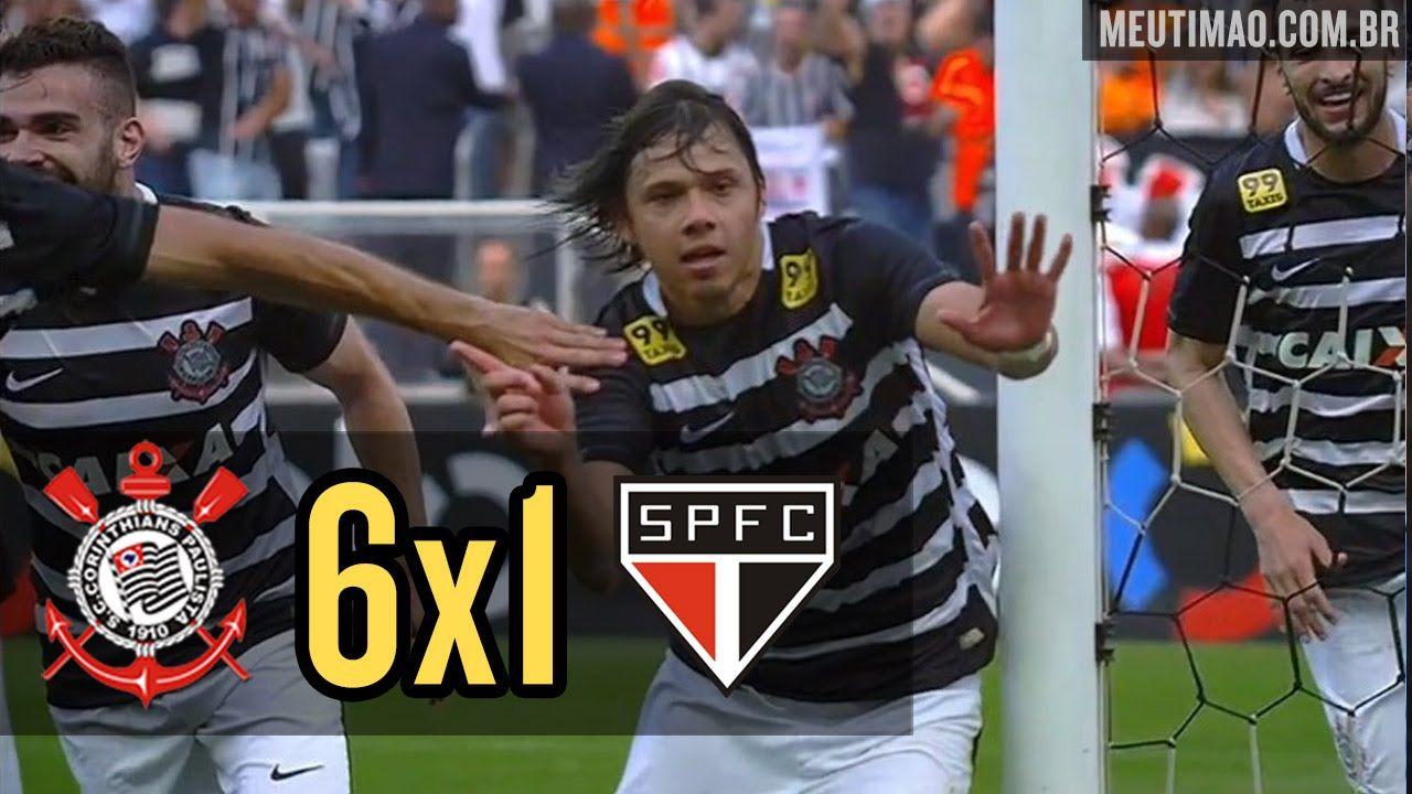 Corinthians 6x1 Sao Paulo 22 11 2015 Todos Os Gols Corinthians E Sao Paulo Sao Paulo Paulinho